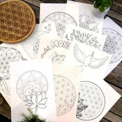 Album N°1 de dessins avec la Fleur de Vie