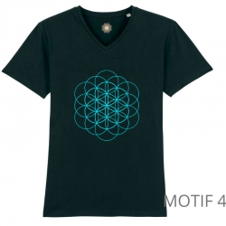 t-shirt-bio-noir-fleur-de-vie-homme-col-en-v