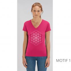 t-shirt-bio-framboise-fleur-de-vie-femme-col-en-v
