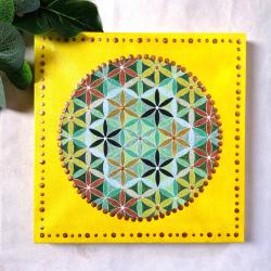 petit-tableau-jaune-fleur-de-vie