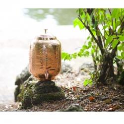 """Distributeur d'eau """"Chakras"""" en cuivre avec 7 Intentions Positives"""