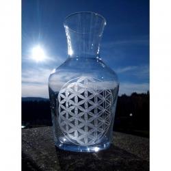 Carafe Fleur de Vie en verre