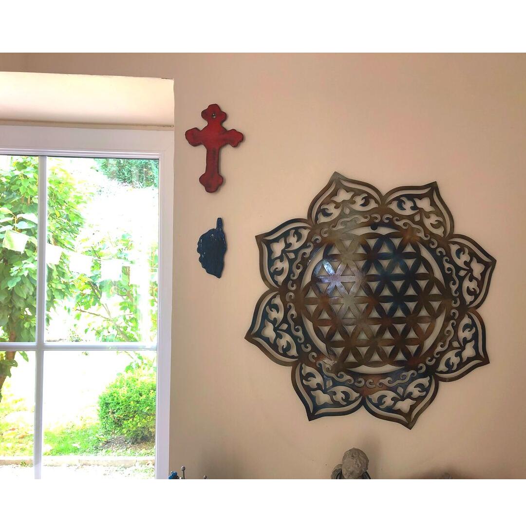 decoration-murale-univers-fleur-de-vie-fleur-de-lotus